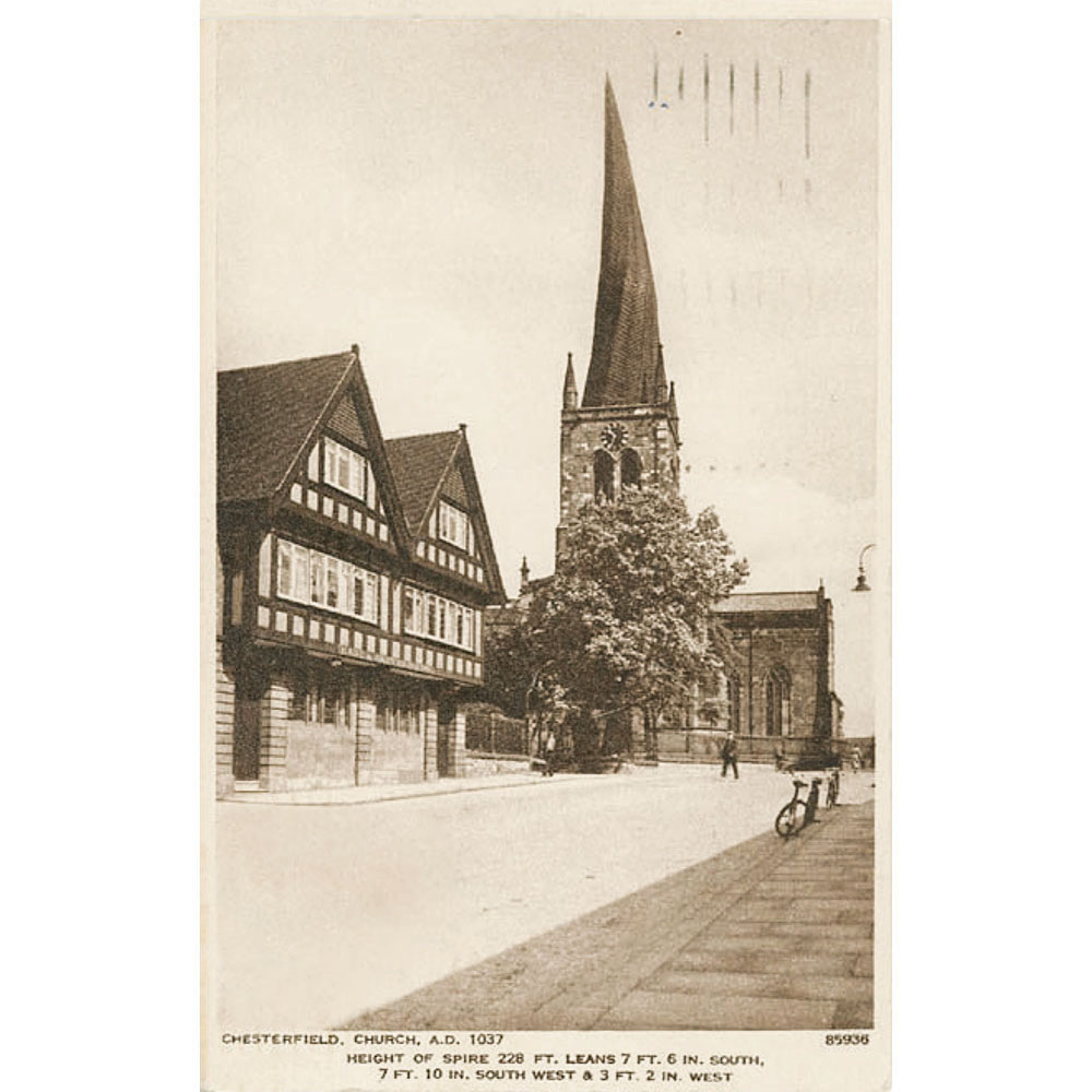 Chesterfield Church Postcard