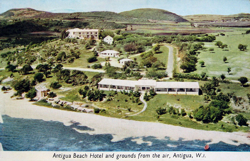 Postcard of the Antigua Beach Hotel - 1941