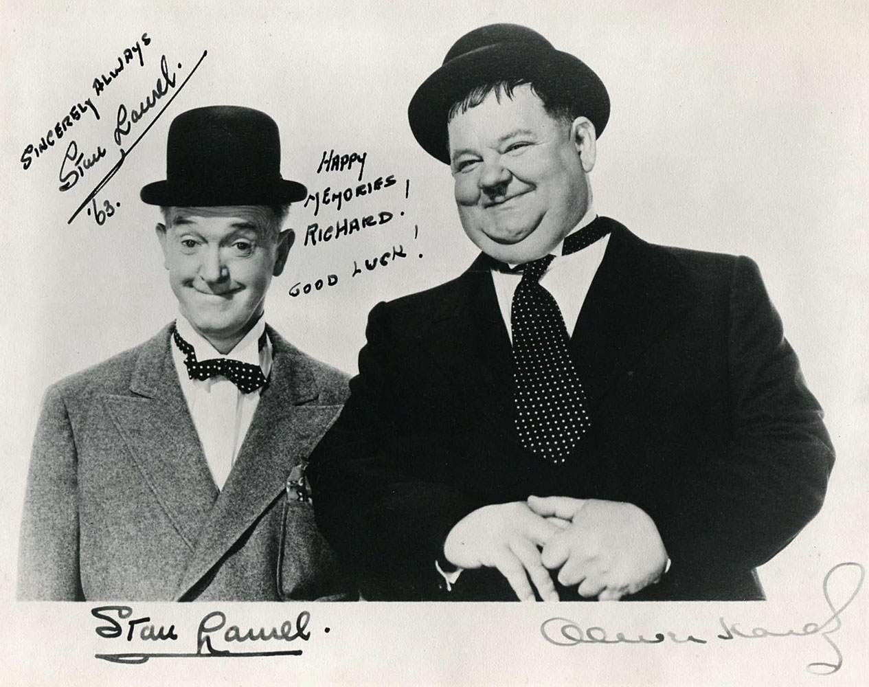 Autographed Stan Laurel Photo