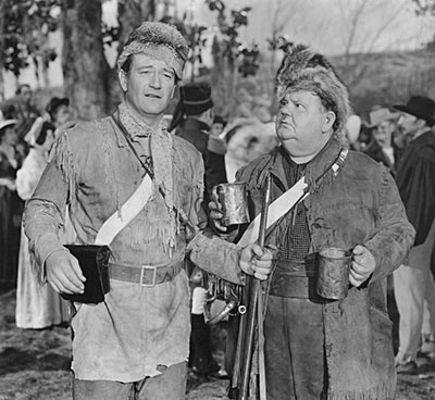 John Wayne and Oliver Hardy