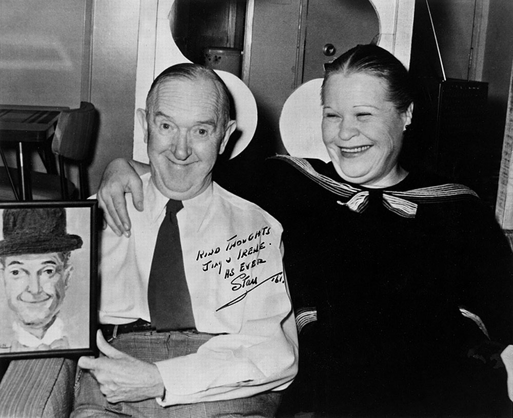Stan Laurel and Babe London