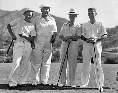 Laurel and Hardy Play Golf