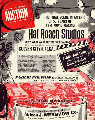 Hal Roach Auction Catalog