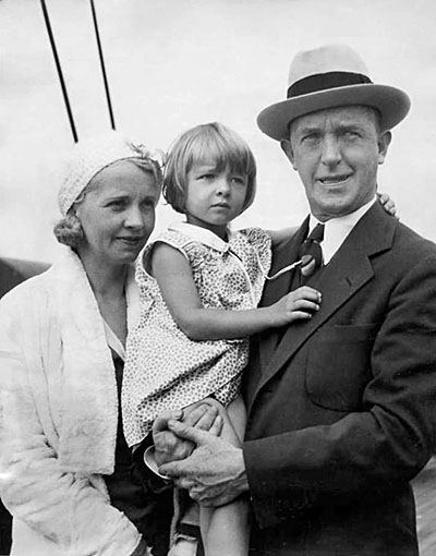 Stan and Lois Laurel with Daughter