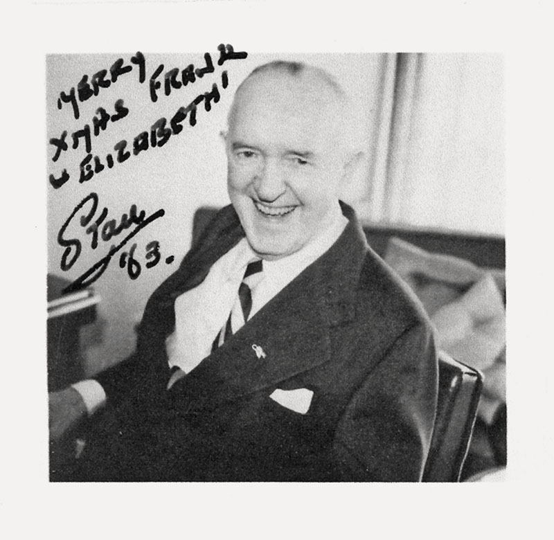 Stan Laurel Autographed Photo
