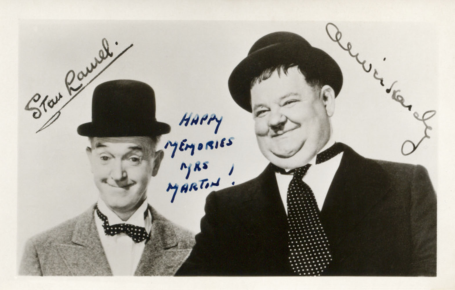 Autographed Photo from Stan Laurel