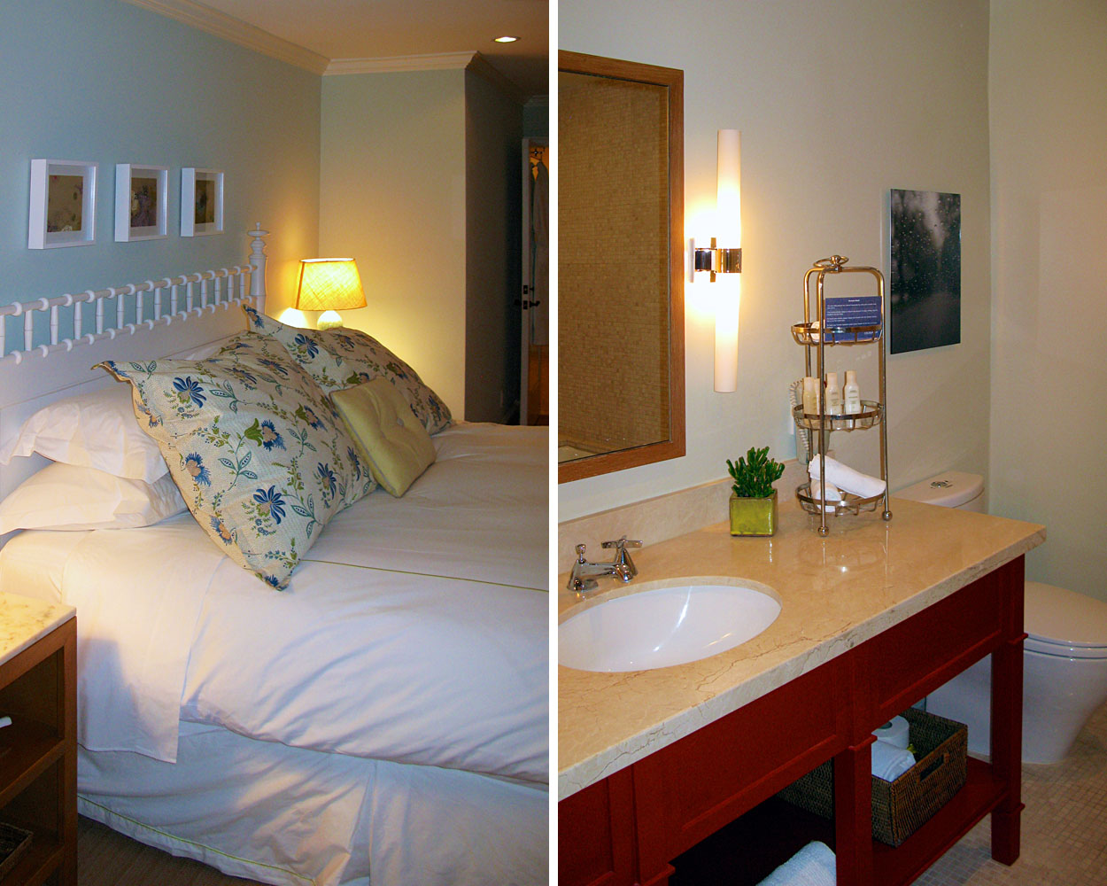The Current Bedroom and Bathroom at the Stan's Apartment in the Oceana