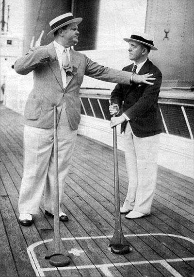 Stan and Ollie Onboard the Aquitania