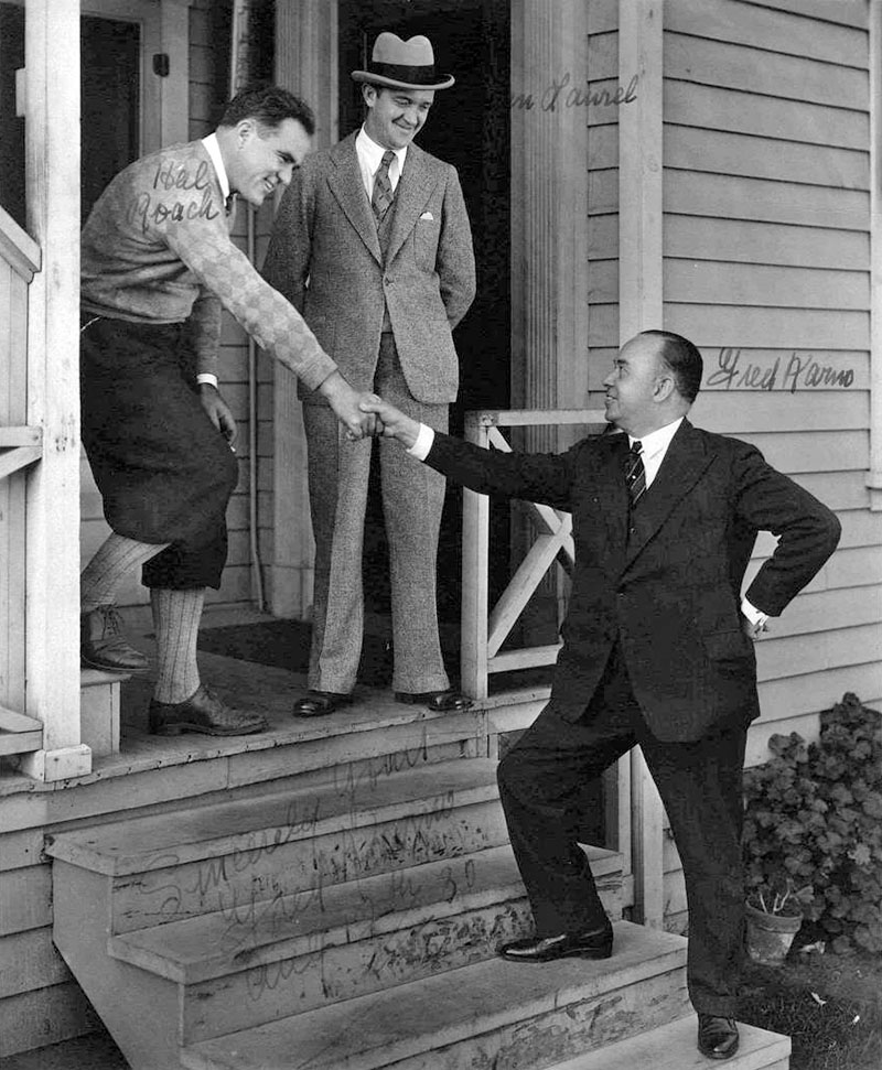 Hal Roach, Stan Laurel and Fred Karno - August 12, 1930