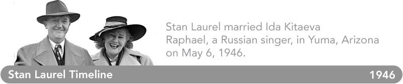 Stan Laurel Timeline - 1946
