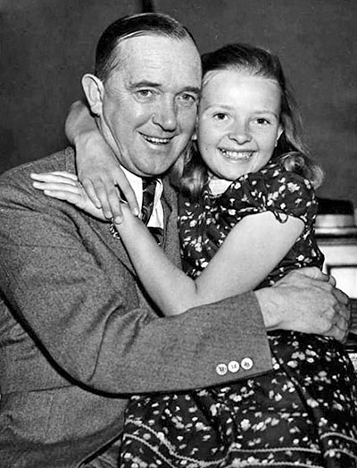Stan Laurel with Daughter